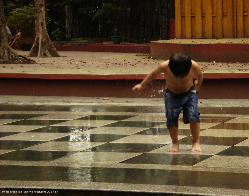 Boy Playing in Rain Photo credit isla_yelo via Foter.com CC BY-SA